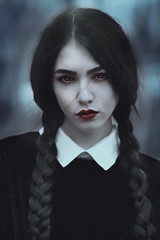 WEdnesday Addams (forestfairyhelena) Tags: wednesdayaddams portrait cosplay portraitmood horror beautifulgirl amazinggirl