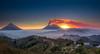 Volcan de Fuego Eruptions (neritron) Tags: verde fuego volcan volcano vulcano volcanoe volcanos landscape landscapes sunset red yellow blue image color colorful colourful guatemala hobbitenango nikon d750