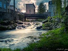 Vizezy Montbrison (mick42m) Tags: longexposure eau water rivière roche roc rocher verdure landscape pont bridge tree montbrison loire vizezy