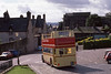 Open-Top DCS616 (rear) leaves Stirling Castle. Sep'88 (David Christie 14) Tags: a1service daimlercvd6 opentop stirling