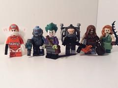 Gotham city rogues: The misfits (Sam K Bricks) Tags: calendar man mr freeze joker firefly scarecrow poison ivy