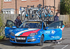 FDJ Nouvelle Aquitaine Futuroscope Support Car (mark_fr) Tags: east west north tour de yorkshire 2018 stage 1 gary verity mark cavendish beverley south dalton etton howden ladies mens peliton police bike bycicle cycle womens race experzafootlogix team storey peloton tete la course harry tanfield doltcini – van eyck sport wiggle high5 pro cycling ale cipollini fdj nouvelle aquitaine futuroscope boompods edco nrg