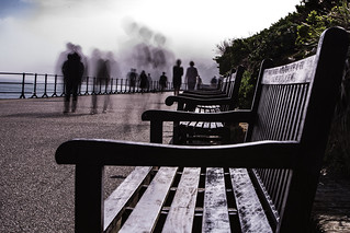 Eastbourne's ghostly seafront!