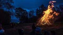 Valborgsfirande på Adelsö (tonyguest) Tags: adelsö valborgsfirande eld fire vikings stockholm tonyguest mälaren sverige sweden lake sjö water flames valborg 2018 alsnu udd vikingar bonfire