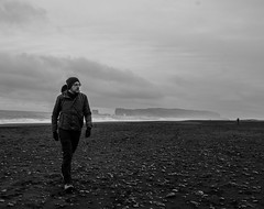 Iceland Black Beach (anthonydcliffe) Tags: iceland nature landscape colour river water sky cloud mountain black bnw beach volcano volcanic travel portrait person people art arty subject traveller hiker clouds grey