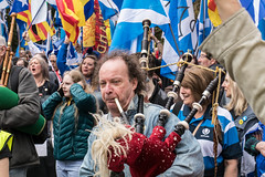 All Under One Banner, Glasgow (05/05/18) (johnawatson) Tags: scoyland independence glasgow politics march demonstration protest canon80d ef2470mmf4lisusm scotland environmentalportrait portrait activist protester joy people street streetportrait