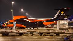 UR-CKC (tynophotography) Tags: cavok air antonov an74 urckc nightshot schiphol eham amsterdam airport