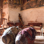 Wukro - La chiesa di Abraha Atsebha (7°-11° sec.) con gli interni tutti affrescati