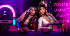 Tasty friends (meriluu17) Tags: foxcity avaway fabia theskinnery french fries chips girls sisters friends people portrait funny fun happy bar neon milkshake coctail yummy tasty
