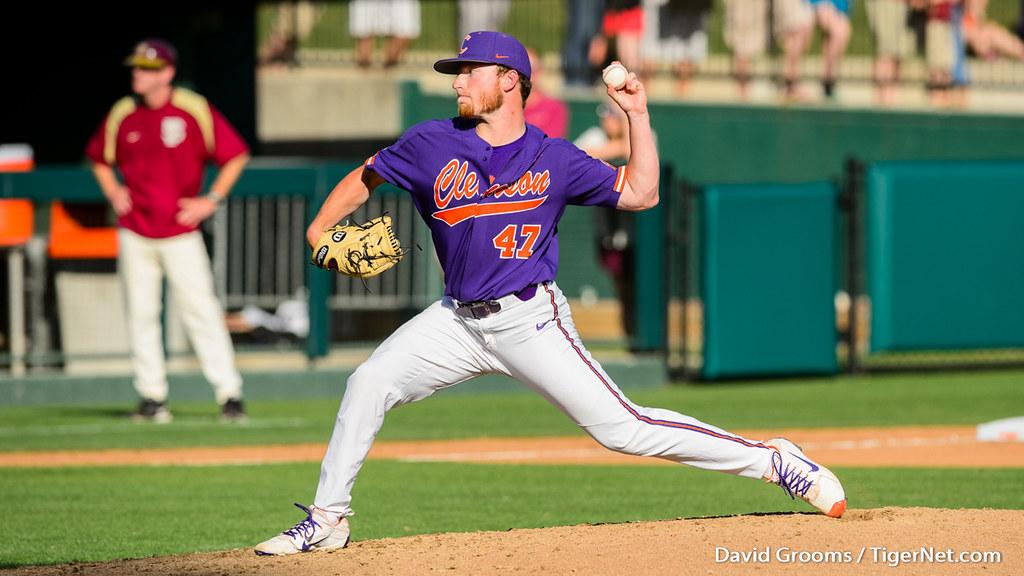 Clemson Photos: Alex  Schnell, 2018, Baseball, Florida  State