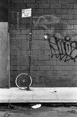 Bicycle, NYC. (setpower1) Tags: newyorkcity nyc bw leicam4 kodaktrix kodakd76 35mmfilm vintagefilmcamera bwyellowsc022filter epsonv550 leica50mmf2summicron chinatown