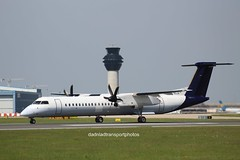 Flybe (anthonymurphy5) Tags: aircraft airport aviation travel transport jetphotos planephotography outside flybe gecoi dehavillandcanadadhc8400 manchesterairport 070518