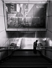 Impress Engage Inspire (rizqyunggul) Tags: amateur jakarta streetphotography blackwhite station indonesia urban publicplace