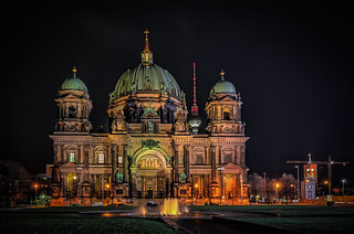 The Berlin Cathedral at night