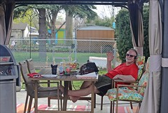 Now This Is The Life! (Daryll90ca) Tags: patio man backyard gazebo