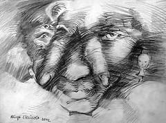 Distance (alice 240) Tags: artcityartists artgalleryandmuseums artist contemporaryart traditionalart gallery drawing museum magic poetry dream alice240 atelier240art art alicealicjacieliczka pencilonpaper artistic distance visualart modernart illustration expression portrait creativeportrait creative surreal surrealism monochrome gest1 gestuno expressionism