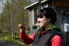 A Bird in the Hand (gabi-h) Tags: birdbanding warblers birdinthehand birdingfestival princeedwardpointbirdobservatory gabih princeedwardcounty princeedwardpoint woman portrait