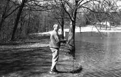 Bruce Fishing (rentavet) Tags: analog agfacopexhdp13 asa25 exp714 rodinal1100hc11012001hoursemistanddevelopment microfilm canoneos10s 50mmf18 unperforated contrasty