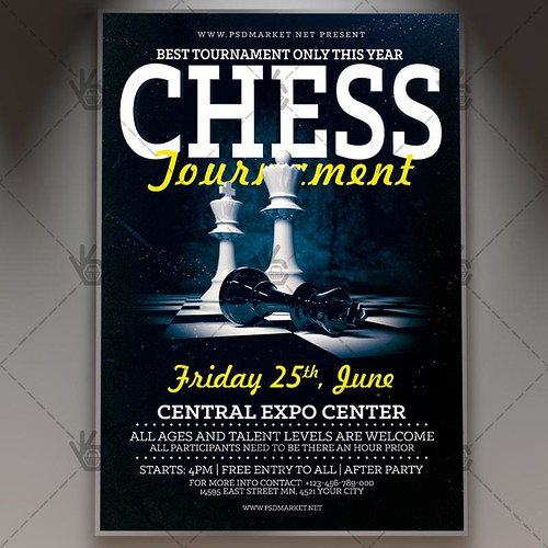 Chess Tournament Flyer - PSD Template