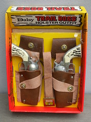Victor Creations The Daisy Kid Trail Boss Holster Outfit Toy Cowboy Cap Guns & Holsters Mint / Boxed Made in Ontario Canada 1960's ? (beetle2001cybergreen) Tags: victor creations the daisy kid toy cowboy cap guns holsters mint boxed made ontario canada 1960s trail boss holster outfit