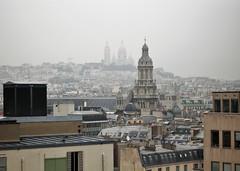 Paris rooftops and Montmartre (JohnVenice) Tags: paris france rooftops city montmartre sainttrinite eglise catholic church sacrécœur mansard roof
