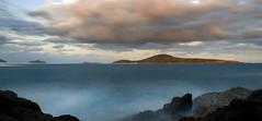 Accross The Bay (edwinemmerick) Tags: longexposure fingalhead fingalbay nsw beach water sky sunset australia