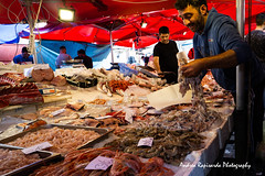 La bancarella del pesce (Andrea Rapisarda) Tags: people andrearapisarda streetphotography sicilia catania sicily fishmarket feraoluni sony a6000 16mm gente italians ©allrightsreserved pesce fish market candid reportage pescefresco