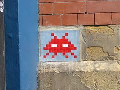 Space Invader NCL_03 (tofz4u) Tags: reactivationteamuk spacerescueintl reactivated restauré newcastle newcastleupontyne uk angleterre unitedkingdom streetart artderue invader spaceinvader spaceinvaders mosaïque mosaic tile ncl03 red rouge blue bleu