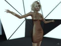Leisure (Algezares (III)) Tags: secondlife sexy sensual lelutka maitreya makeup minidress minivest blonde kaithleens possesion poses ebento ebentotheevent bento mesh