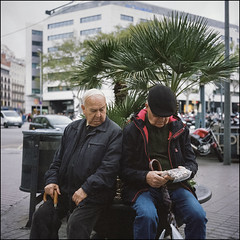 Look at my Snails - Barcelona (magnus.joensson) Tags: spain barcelona april sailing the mediterranean rolleiflex 35 carl zeiss tessar 75mm kodak porta 400 c41 6x6 medium format