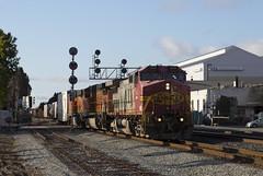 Super Fleet on the Oakland Turn (imartin92) Tags: emeryville california bnsf railroad railway freight train ge generalelectric es44ac gevo atsf santafe warbonnet c449w dash9 locomotive