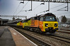 70803 + 70807 - Nuneaton - 12/04/18. (TRphotography04) Tags: colas rail freight 70803 70807 pass through nuneaton working 6m50 0755 westbury down tc bescot up engineers sdgs via hinksey yard