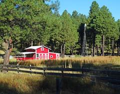Little Red Barn, Flagstaff, AZ 2015 (inkknife_2000 (9 million views)) Tags: ranch barn sunrise arizona flagstaffaz usa landscapes farm windmill shadows dgrahamphoto oakcreekcanyon americanwest ranching
