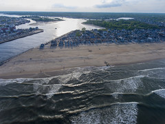 Manasquan Beach and the Atlantic Ocean, captured by a DJI Phantom 4 drone. (apardavila) Tags: atlanticocean djiphantom4 jerseyshore manasquan manasquanbeach manasquaninlet manasquanriver aerial beach beachfronthomes clouds drone ocean sky waves