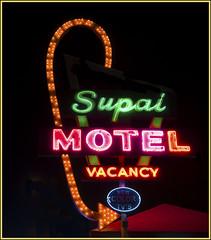Supai Motel (Runemaker) Tags: supai motel route66 seligman arizona neon sign