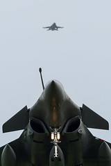 Rafale with F-16 (william.spruyt) Tags: rafale f16 adla airpower aircraft jet airplane fighter french dutch leeuwarden airbase
