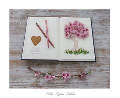 🌸🌸......🌳......🌸🌸 (.... belargcastel ....) Tags: dibujo arbol hojas flores primavera spring lapiz galleta corazón libreta españa spain galicia belargcastel belénargúeso