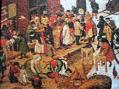 [detail] Payment of Taxes at Bethlehem (pefkosmad) Tags: jigsaw puzzle pastime hobby leisure pieterbruegheltheyounger art painting fineart flemish paymentoftaxesatbethlehem taxation mary joseph falcon 3000pieces 123brueghel vintage unopened sealed