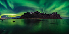 Dreamscape Aurora (Matt Payne Photography) Tags: 2x1 auroraborealis beach green iceland landscape mountains night nightscape reflection stars vestrahorn beautiful