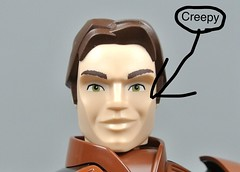 Han Solo Face (Unkar's Thug) Tags: lego star wars creepy han solo weird cool movie