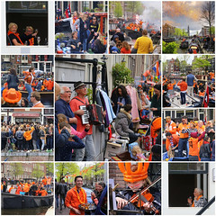 King's day party in Amsterdam (B℮n) Tags: fdsflickrtoys party boat girls boys fun dancing dance koningsdag kingsday street festival water prinsengracht orange oranje holiday willem alexander maxima amsterdam holland netherlands celebration jordaan kingdom dutch straat feest market trendy crowded free canals people floating beer amstel heineken feestdag mokum grachtengordel panden carnaval gezellig national king singing music muziek dansmuziek swing colors smoke kiss kissing kday kdag outdoor crowd 27april oranjegekte accordeon life accordion folk singer best collection collage 50faves topf50