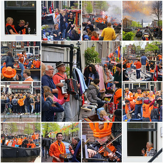 King's day party in Amsterdam