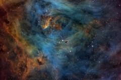 The Heart of the Running Chicken Nebula, IC 2944 (Rick-Stevenson) Tags: astrophotography nebula narrowband deepspace astrometrydotnet:id=nova2536428 astrometrydotnet:status=solved