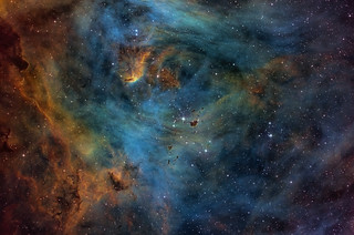 The Heart of the Running Chicken Nebula, IC 2944