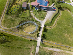 Luftbildaufnahme der Sommerrodelbahn Gutach (marcoverch) Tags: luftbildaufnahme luftaufnahme phantom3 aerial aerialphotography travel dji gutachschwarzwaldbahn badenwürttemberg deutschland de sommerrodelbahn gutach road strase grass gras guidance beratung landscape landschaft nature natur transportationsystem transportsystem reise tree baum noperson keineperson outdoors drausen summer sommer traffic derverkehr track spur rural ländlich street field feld architecture diearchitektur curve kurve vehicle fahrzeug environment umgebung spain woods port aircraft airplane printemps berlin plane hiking