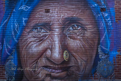 Tumby Bay street art.. (Malcom Lang) Tags: old woman painting art street paint wrincles bricks brick wall eyes vents blue adnate streetartist tumbybay tumby bay eyrepeninsula eyre lowereyrepenninsula southerneyrepeninsula southaustralia southern southernaustralia south australia australian aussie travel destination traveling canoneos6d canon canon6d canonef2470mm canonef flickr portrait