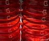 Dubbel (Ilona67) Tags: rood glas buiten vazen reflectie