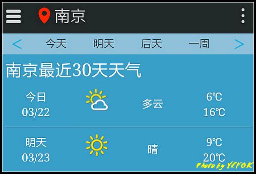 南京 2018-03-22 天氣