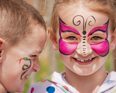 The Snake and the Butterfly (Chancy Rendezvous) Tags: chancyrendezvous davelawler blurgasm kids faces facepainting painting snake butterfly happy cute rwpzooorg zoo butterflyeffect