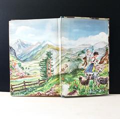Heidi. (Kultur*) Tags: vintage vintagebook illustrated heidi mountains swiss alps drawings children midcentury illustrations 1940 1940s 1940sedition 1940sbook juniorillustrated williamsharp